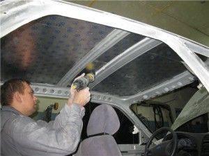 ремонт потолка автомобиля или перетяжка